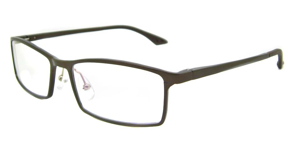 Al Mg alloy brown rectangular glasses frame LVDN-GX209-C06