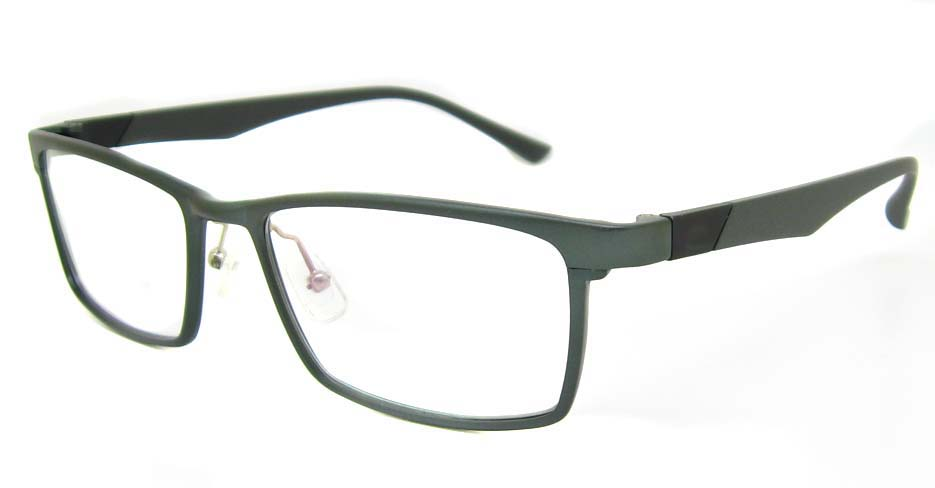 Al Mg alloy grey Rectangular glasses frame LVDN-GX104-C02