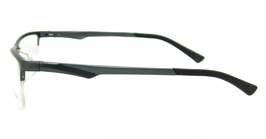 Al Mg alloy grey Rectangular glasses frame LVDN-GX142-C02