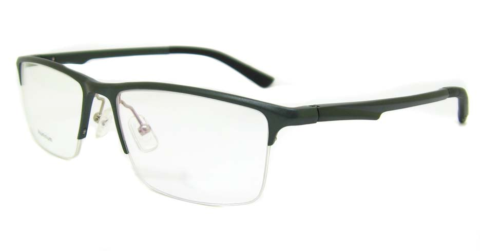 Al Mg alloy grey Rectangular glasses frame LVDN-GX146-C02