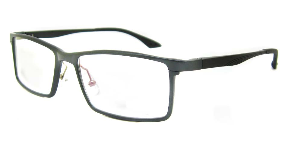 Al Mg alloy grey rectangular glasses frame LVDN-GX043-C02