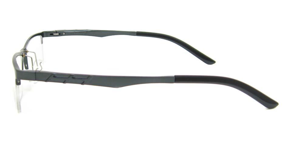 Al Mg alloy grey rectangular glasses frame LVDN-GX044-C02