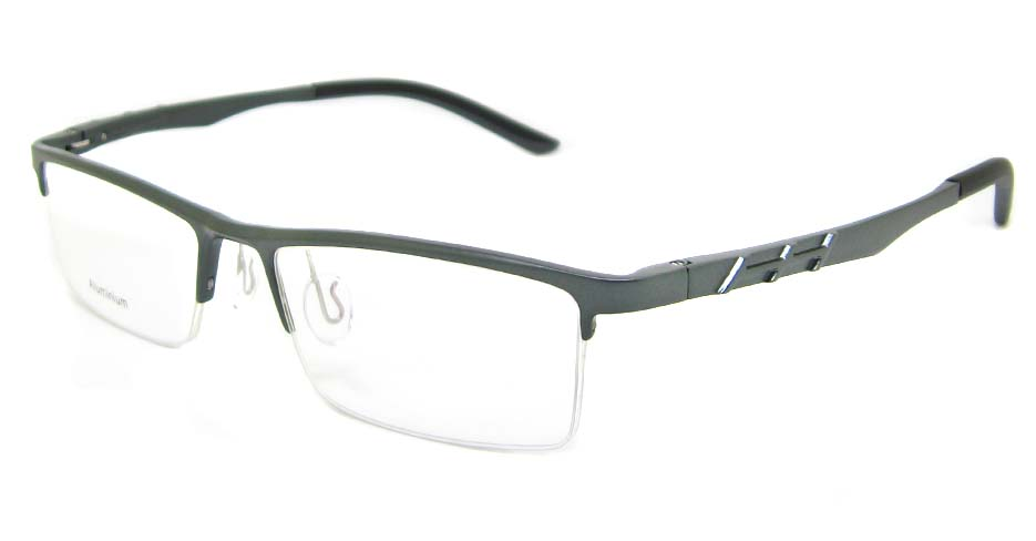 Al Mg alloy grey rectangular glasses frame LVDN-GX044-C02