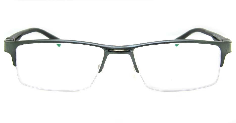 Al Mg alloy grey rectangular glasses frame LVDN-GX093-C02