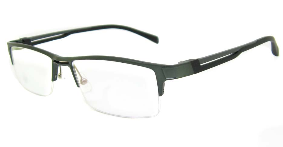Al Mg alloy grey rectangular glasses frame LVDN-GX093-C02