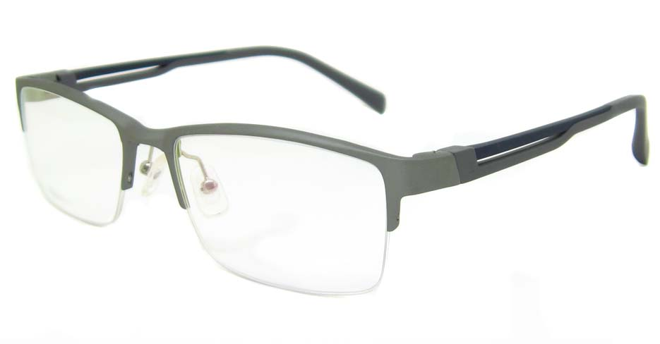 Al Mg alloy grey rectangular glasses frame LVDN-GX094-C04