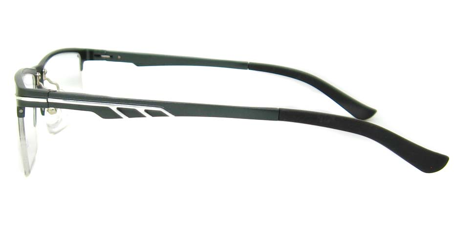 Al Mg alloy grey rectangular glasses frame LVDN-GX151-C02