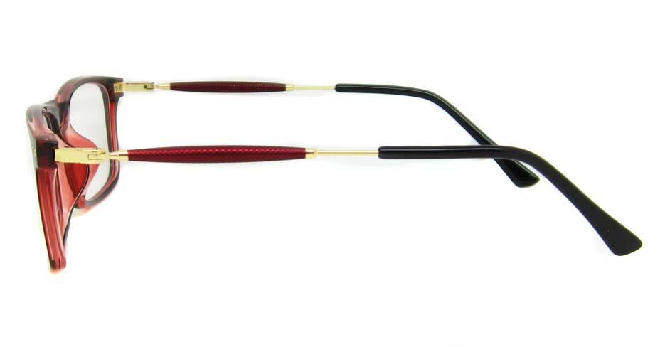 blend red oval glasses frame LVDN-MM7005-C4