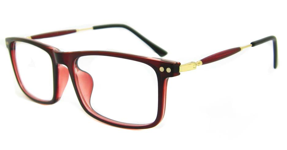 blend red oval glasses frame LVDN-MM7005-C4