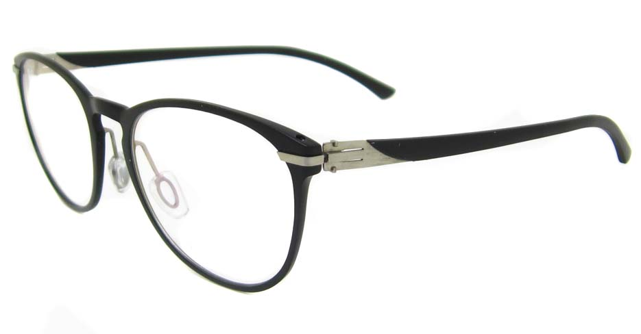 Al Ti  black  Oval glasses frame SM-GX204-C01