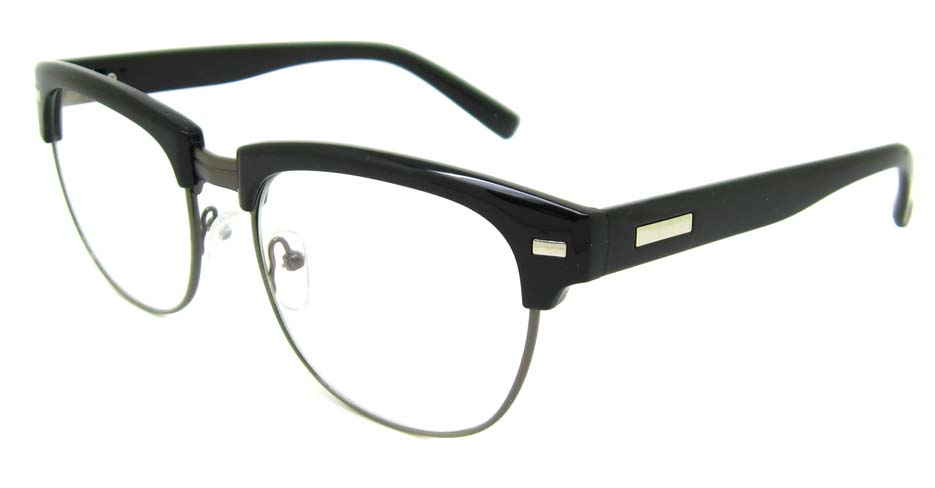 Black  blend retro oval glasses frame YM-OF1849-C4