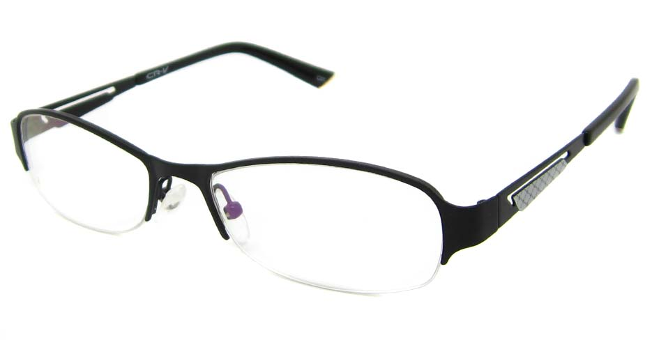 Black  metal oval glasses frame TD-CR2015-HS