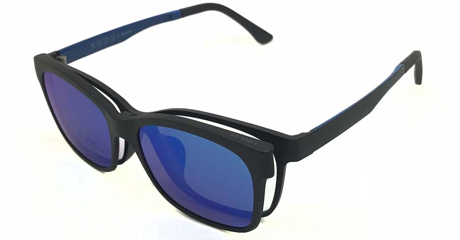 Black  with Blue TR90  Polarized Magentic sunglasses FMH-TJ015-C3