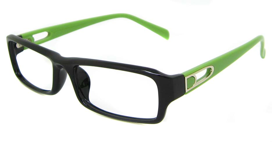Black  with green Plastic rectangular frame YJ-KF8055-C18
