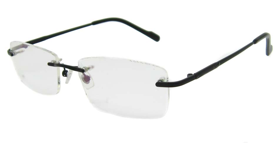 Black Metal rimless Rectangular frame YJ-J1090-HS
