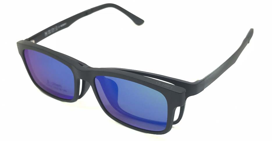 Blue with Green TR90 Polarized Magentic sunglasses FMH-TJ007-C1