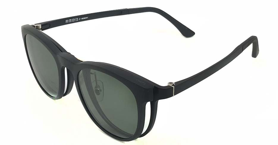Black TR90 and metal polarized magnetic glasses frame FMH-TJ202-C01
