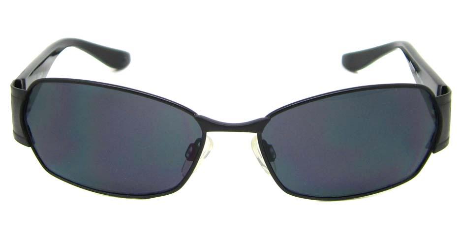Black blend rectangular glasses frame XL-HP585072-HS