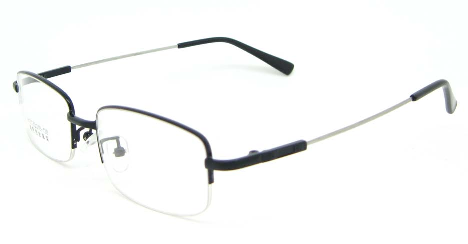 Black metal Rectangular  glasses frame WKY-ASR8111-HS