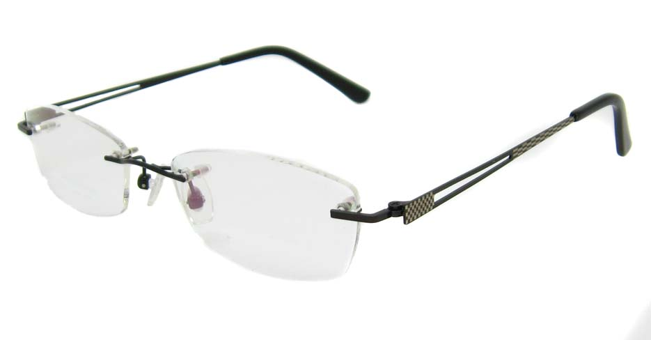 Black metal rectangular rimless frame   YJ-J1178-HS