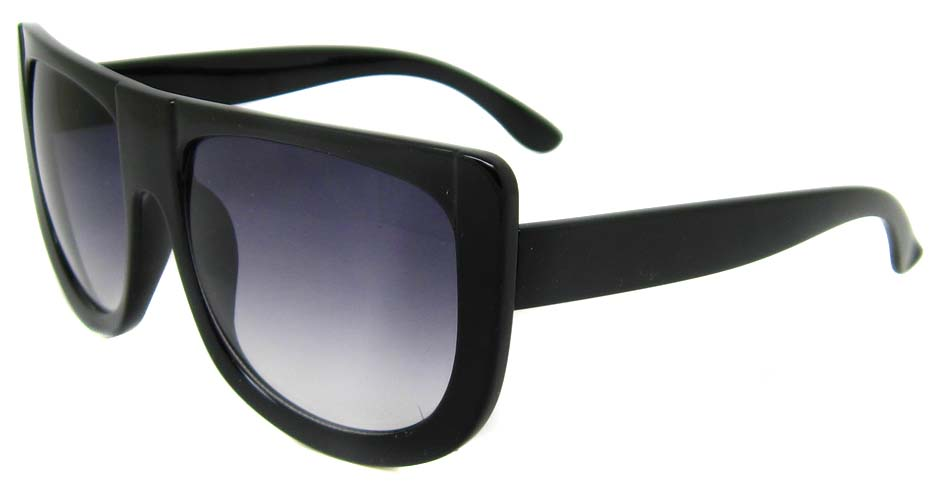 Black oval acetate big  retro glasses frame LF-FG004-HS