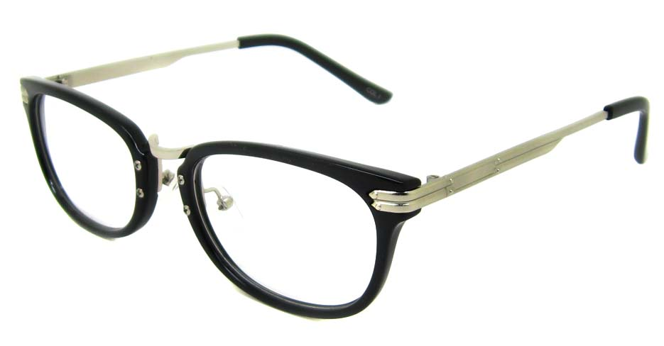 Black oval blend retro frame YM-J106-C1
