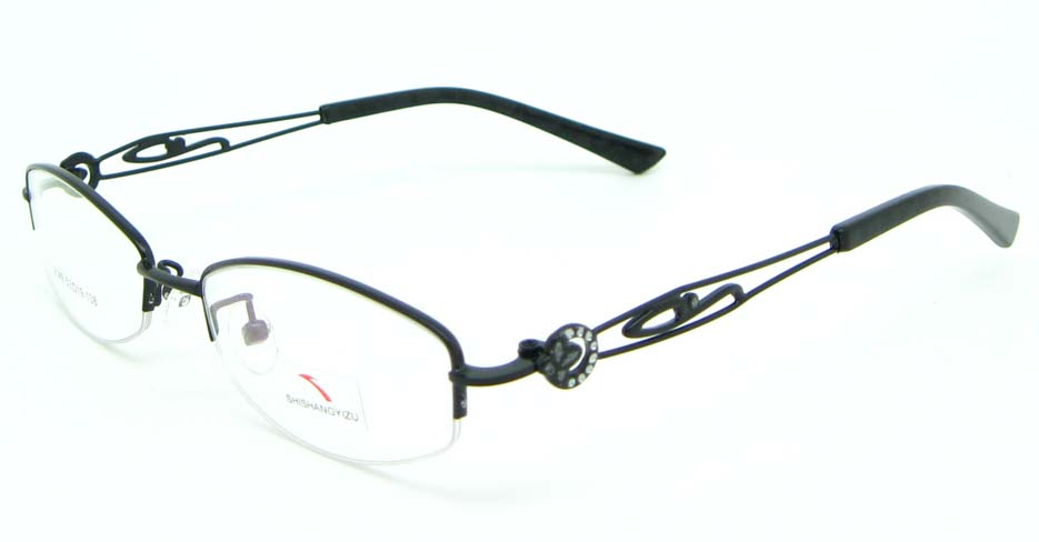 Black oval metal glasses frame JNY-SSYZ2149-HS