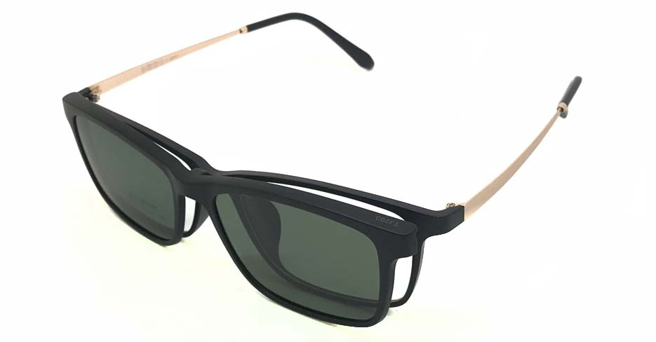Black with Gold TR90 Polarized Magentic sunglasses FMH-TJ203-C01