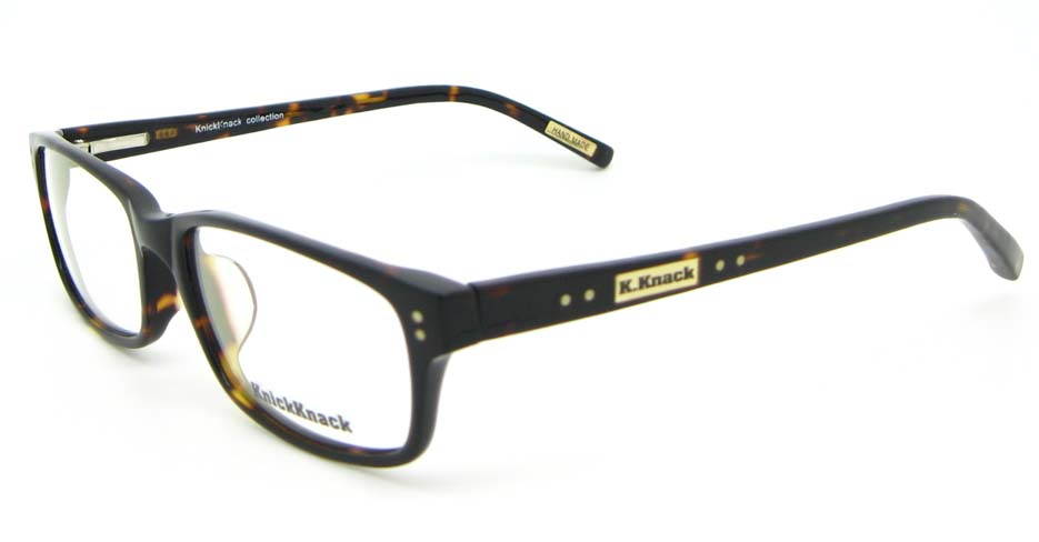 Black with Tortoise Acetate Rectangular glasses frame WKY-K1015-ZS