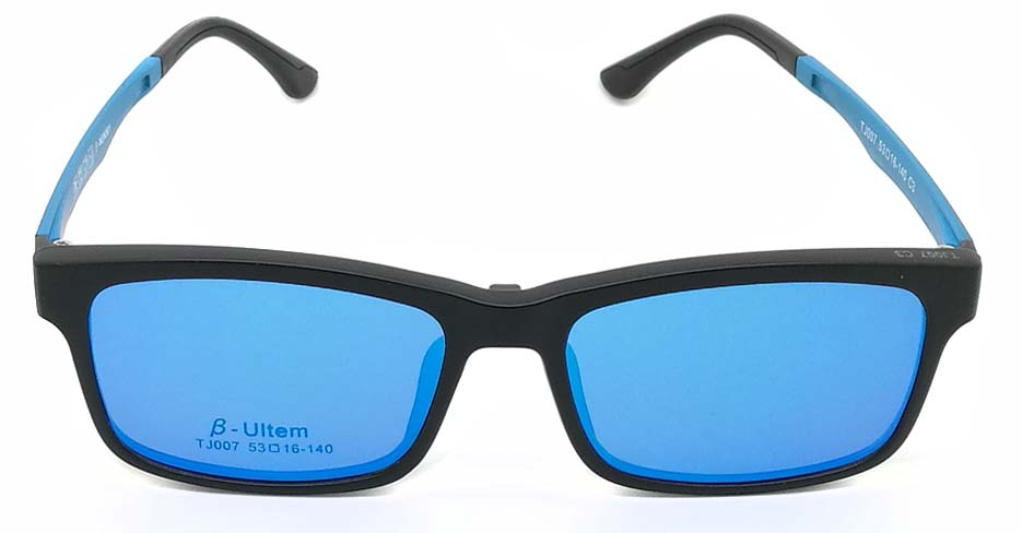 Black with blue TR90  polarized magnetic glasses frame FMH-TJ007-C3