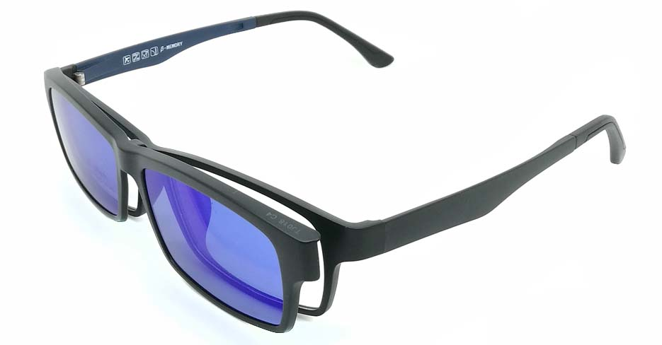 Black with blue TR90  polarized magnetic glasses frame FMH-TJ018-C04