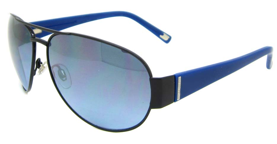 Black with blue blend aviator glasses frame  XL-SK8005-33F