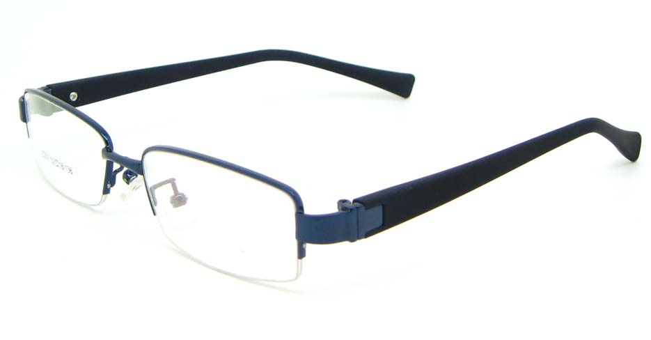 Black with blue blend rectangular glasses frame WKY-KSD6231-L