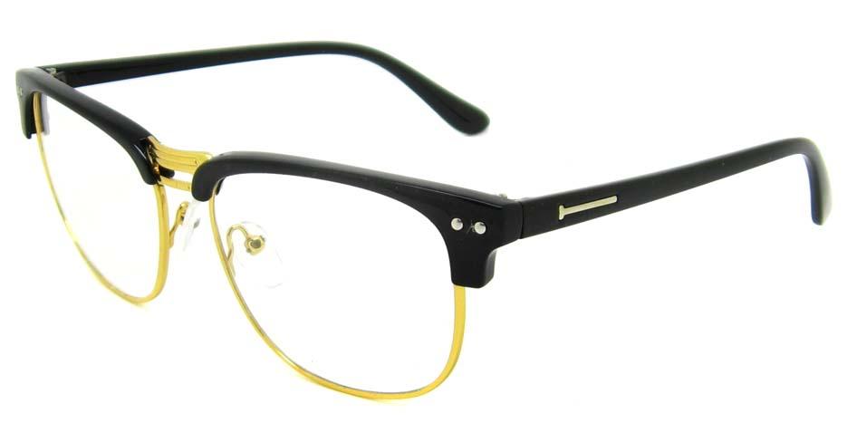 Black with gold oval blend retro frame YM-B088-C4