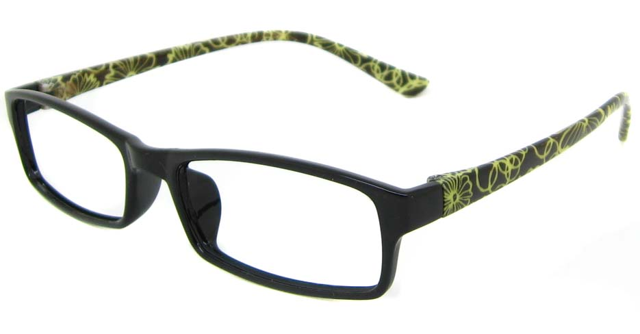 Black with green TR90 rectangular frame YJ-HN101-LHT