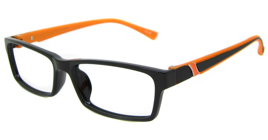 Black with orange TR90  rectangular  frame YJ-JT2088-C28