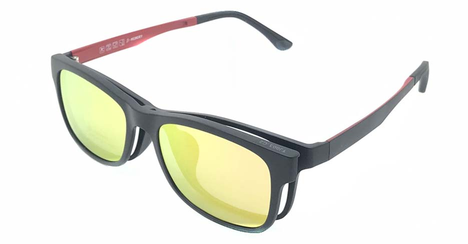 Black with red TR90  polarized magnetic glasses frame FMH-TJ003-C2