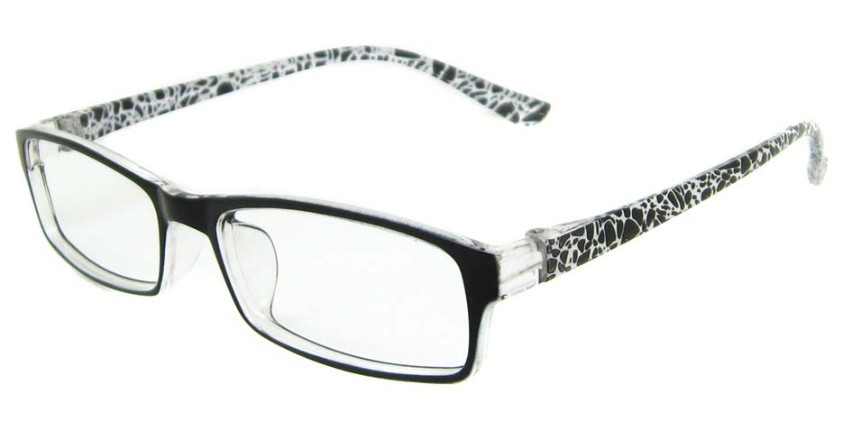 Black with white TR90 rectangular frame YJ-HN101-BHT