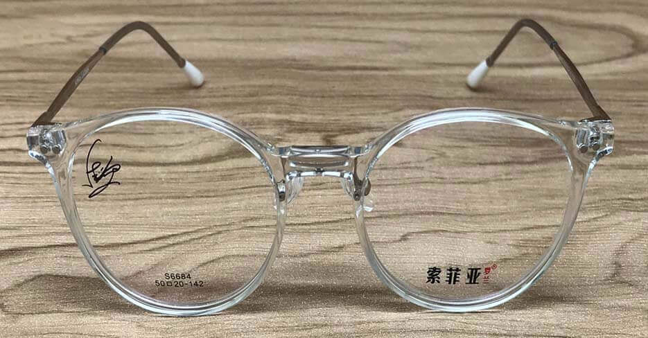 Blend round clear glasses frame MF-SFY-6684-C03