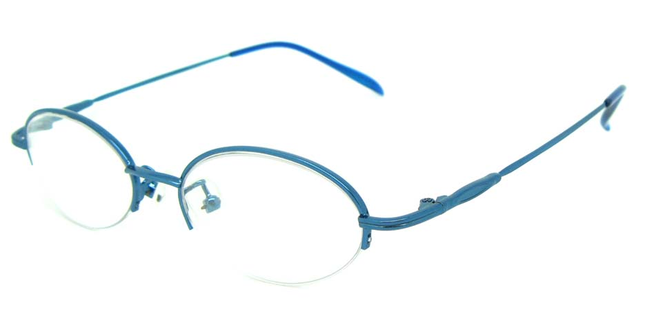 Blue metal oval glasses frame  JS-SML3002-L