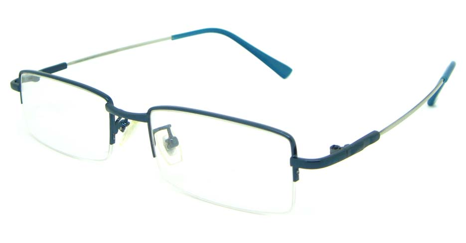 Blue metal rectangular glasses frame JS-LJS9902-L