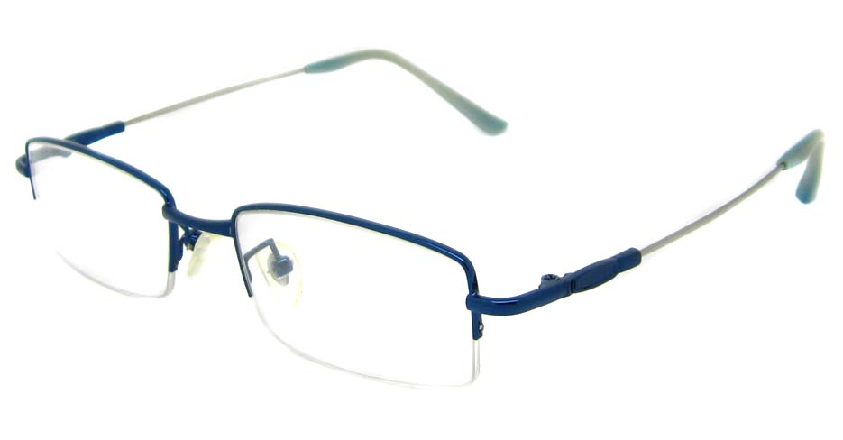 Blue metal rectangular glasses frame JS-LJS9916-L