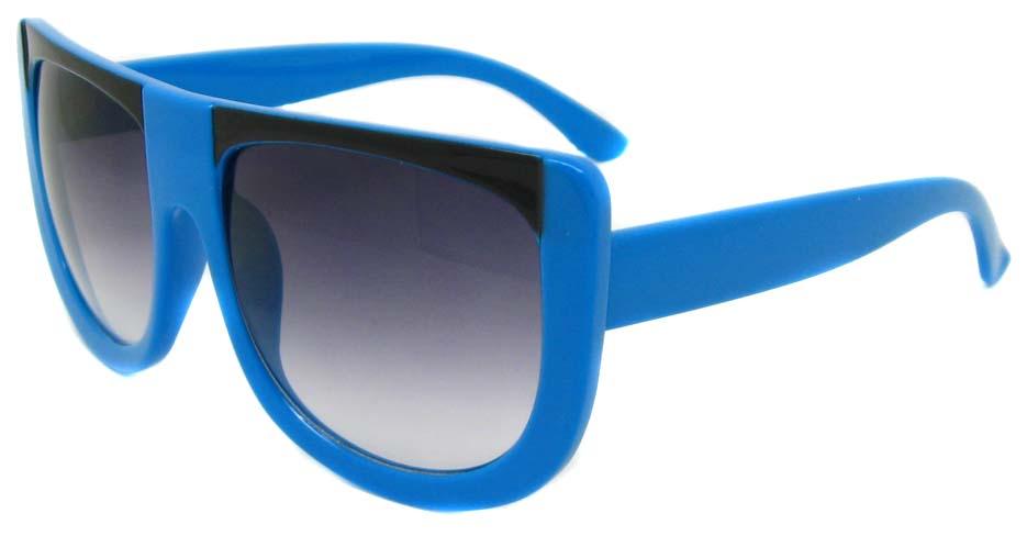 Blue oval acetate big  retro  sunglasses   LF-FG004-LHS