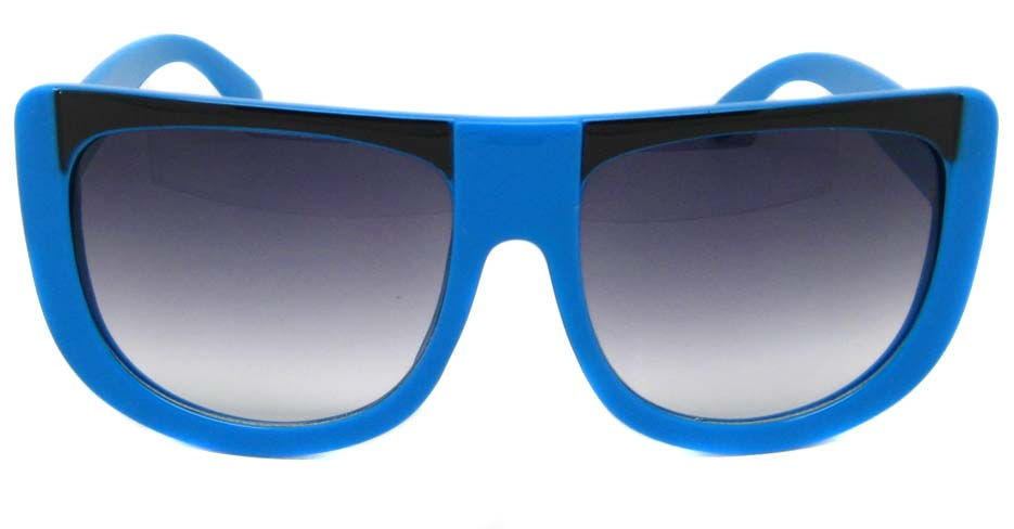 Blue oval acetate big  retro  sunglasses   LF-FG004-LHS