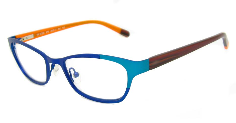 Blue with brown blend oval  glasses frame HD-VB57339-C275
