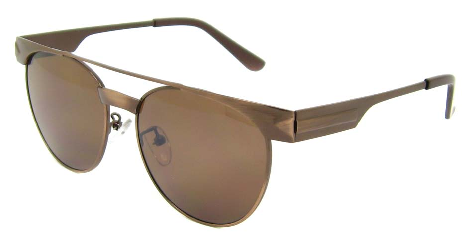Brown Metal oval retro frame YM-S300-C5