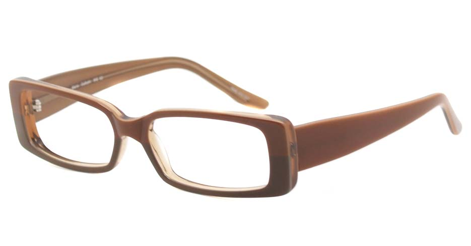Brown acetate rectangular glasses frame  HL-C2788-MG62