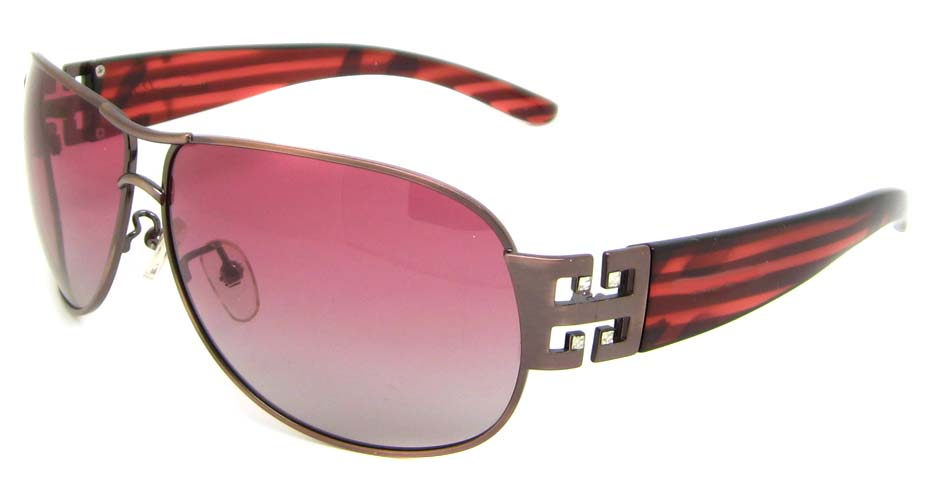 Brown blend oval glasses frame XL-BP31002-V