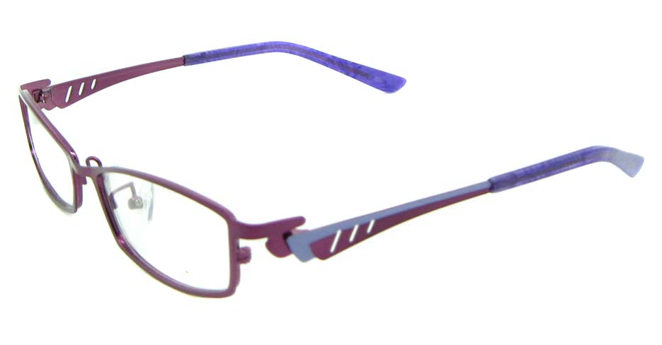Burgundy oval metal glasses frame JNY-KM8825-Z