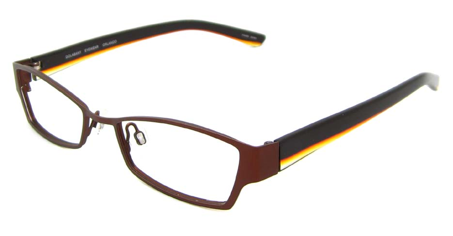 Burgundy with black oval blend glasses frame  HL-DOL0001